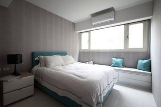 灰色宜家卧室装潢图
