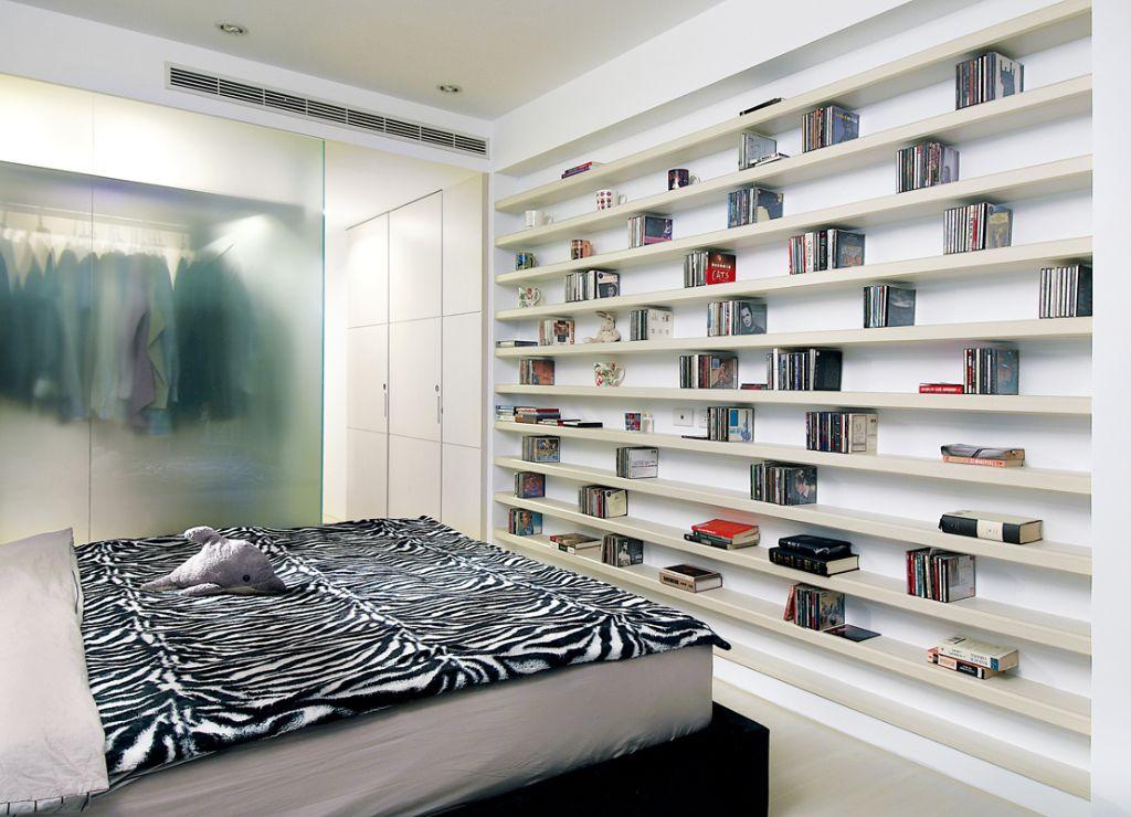 时尚简约卧室书架效果图