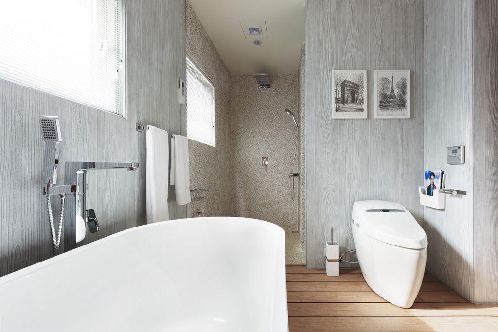 自然风情混搭卫生间装修图