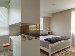 現代簡約臥室隔斷設計