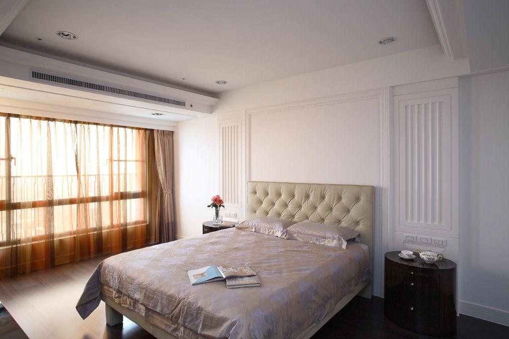 现代时尚卧室窗帘装饰图