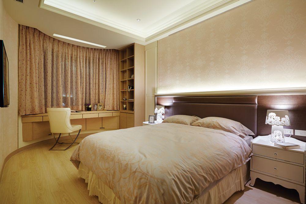 优雅新古典卧室窗帘效果图