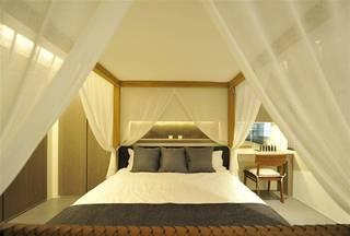 简中式卧室大床效果图