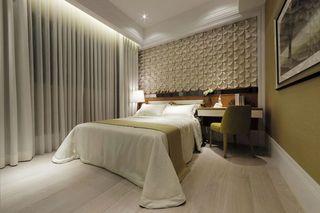 现代家居卧室创意背景墙设计