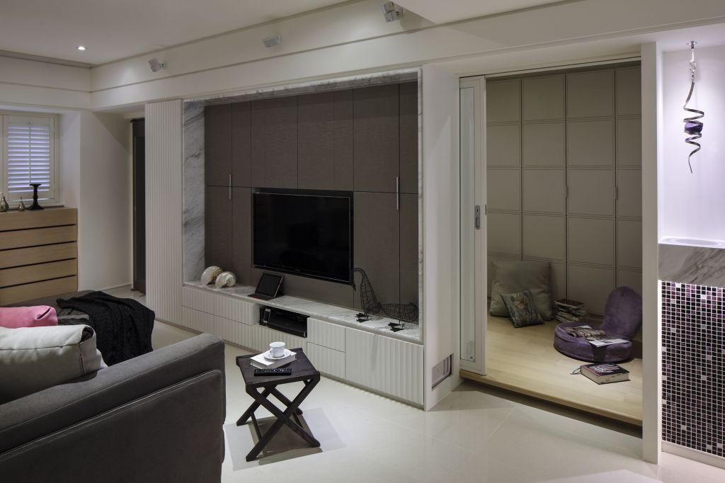简约设计 客厅电视背景墙效果图