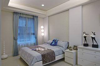 簡約美式臥室窗簾裝修圖