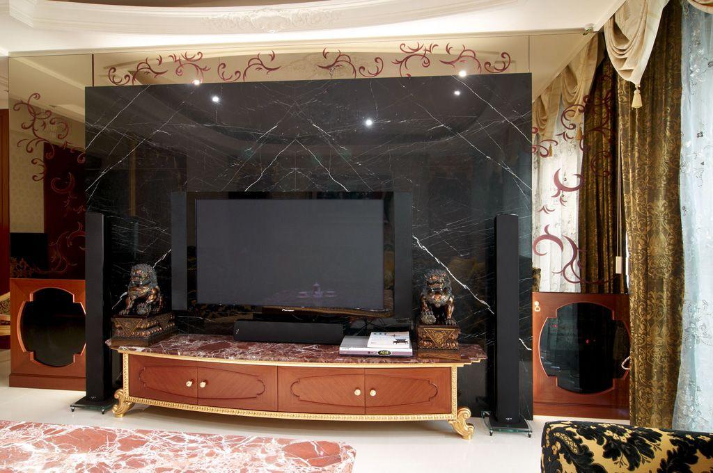 现代欧式风格电视背景墙设计