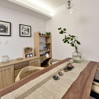 宜家日式餐厅 原木家居设计图