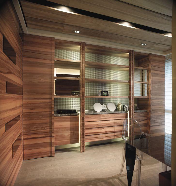 自然现代家居实木壁柜案例图