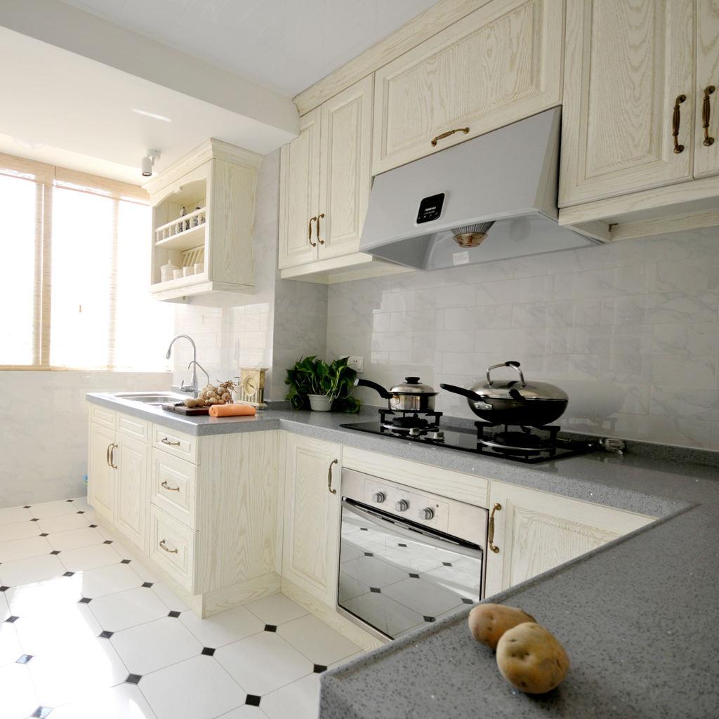 清新浪漫简欧式 厨房橱柜设计图