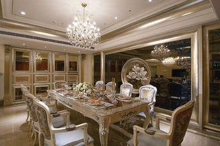 奢华欧式新古典 金色餐厅效果图
