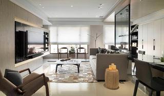 时尚灰色系打造现代简约风二居设计