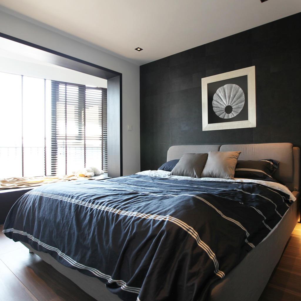 黑白北欧风情卧室装修效果图