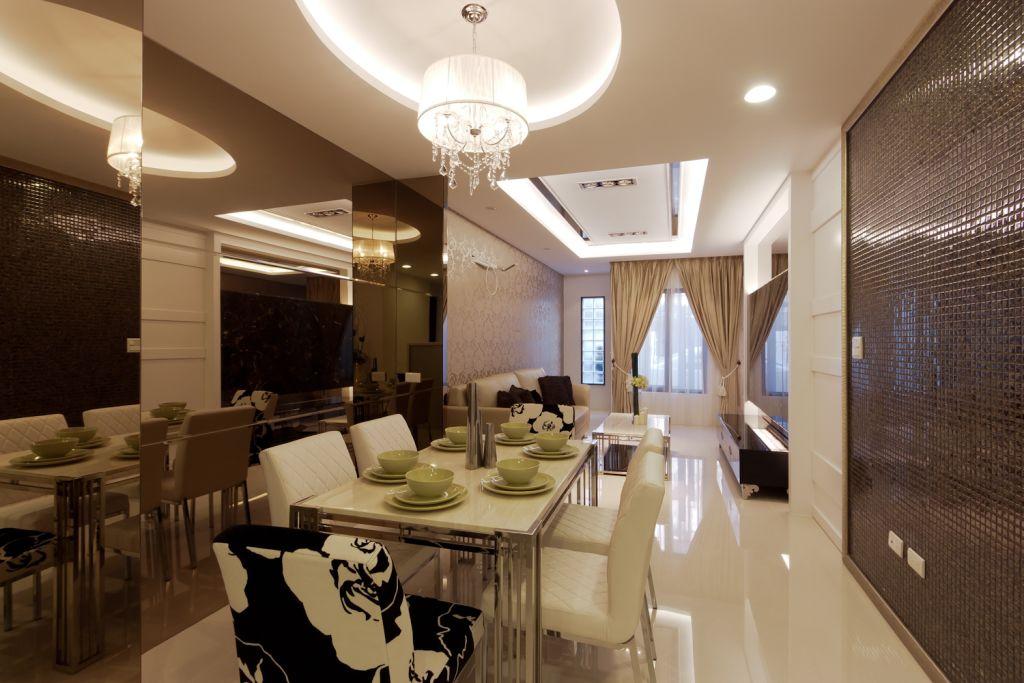 简欧风客餐厅 优雅大吊顶设计