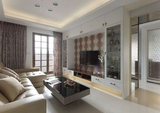 最新现代客厅电视整体柜设计