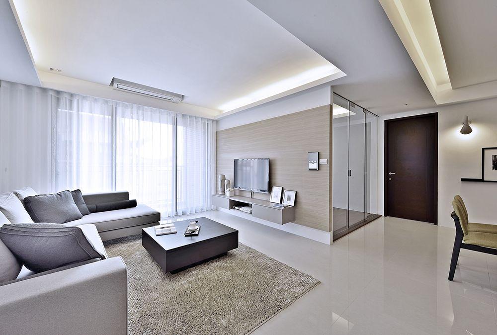 明亮简洁现代风格 客厅吊顶装饰大全