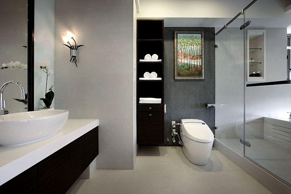 奢华现代风浴室背景墙欣赏