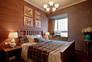 乡村美式田园风 卧室背景墙设计