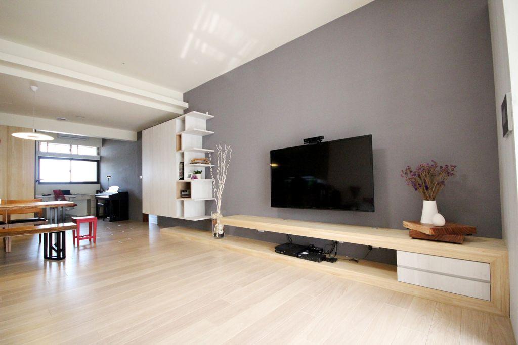 现代宜家风 电视背景墙效果图