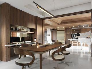 实木现代简约餐厅案例图