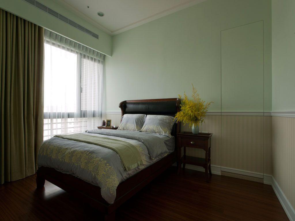 极简美式小卧室整体效果图