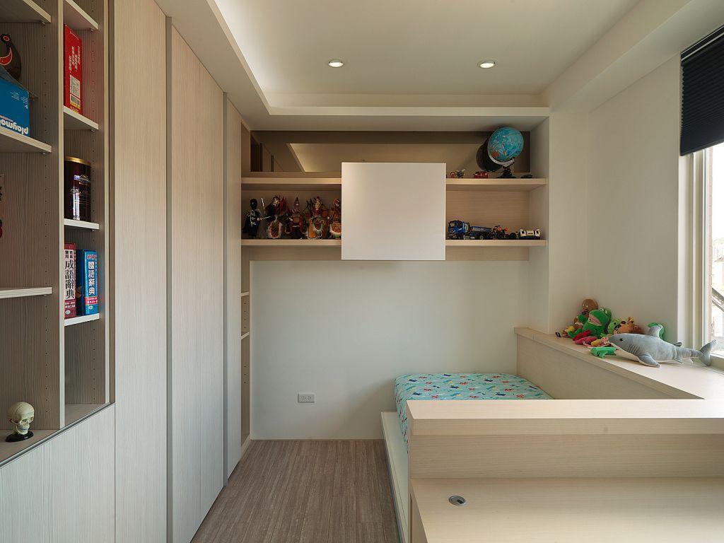 时尚现代儿童房 榻榻米小床设计