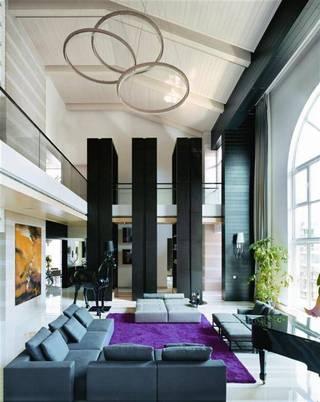大气豪华现代大复式室内设计