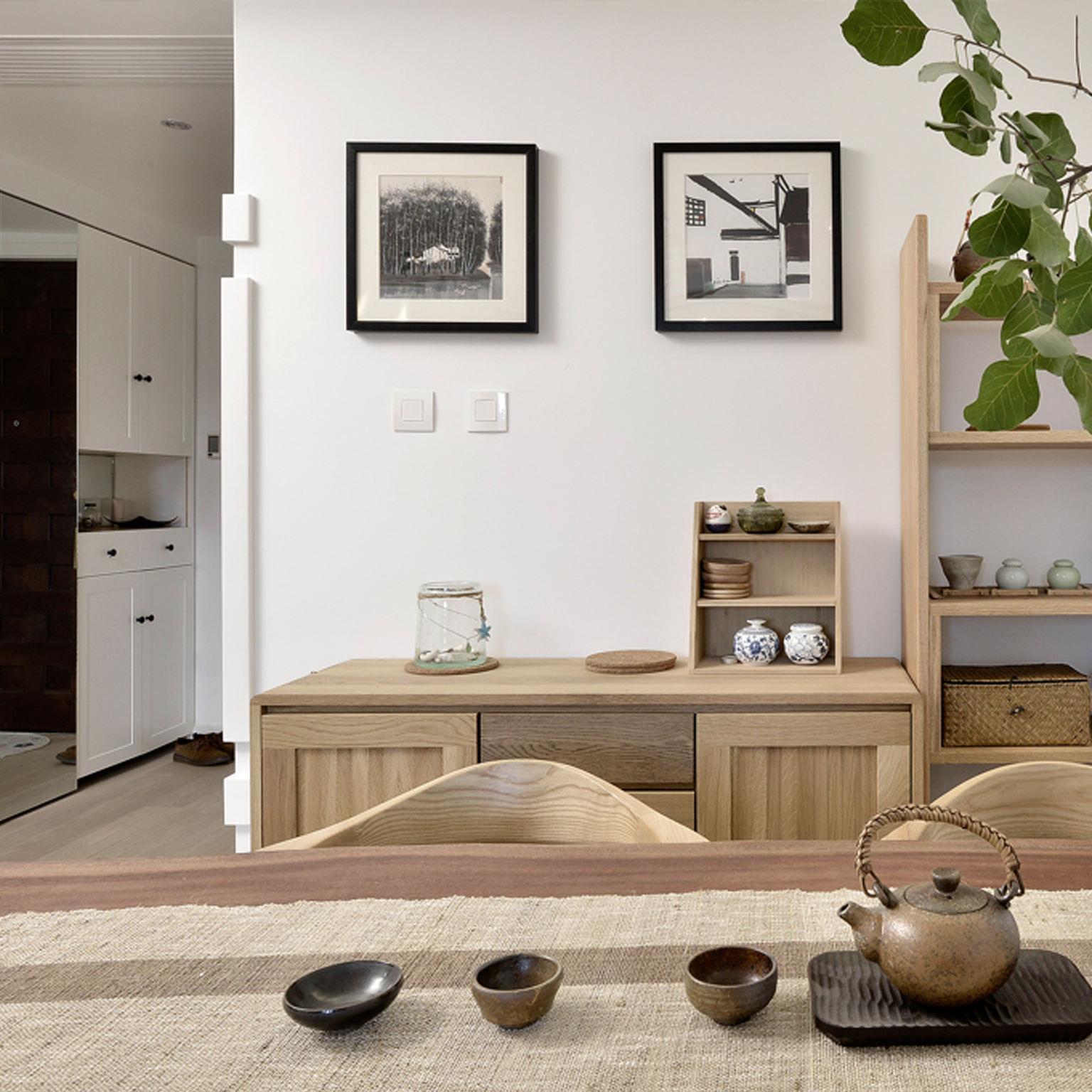 宜家日式家居相片墙效果图