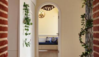 甜美地中海田园风拱形门设计