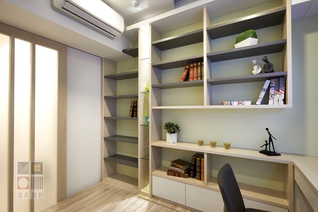 简约日式书房展示柜效果图