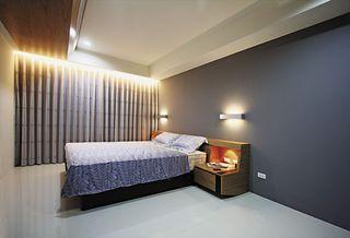 时尚现代风卧室窗帘效果图
