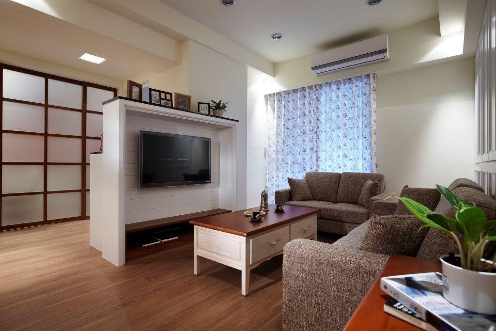 创意美式小客厅电视墙设计
