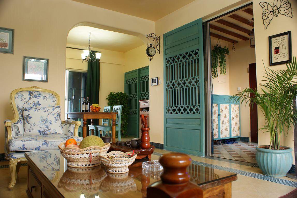 东南亚风格 小户型室内隔断装修图