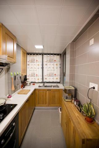 中式混搭设计厨房橱柜效果图