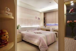 优雅粉色系现代风 卧室背景墙设计