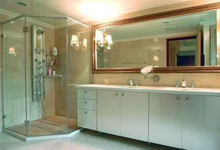 简约美式卫生间洗手台效果图