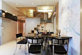 现代美式风格复式餐厅布置