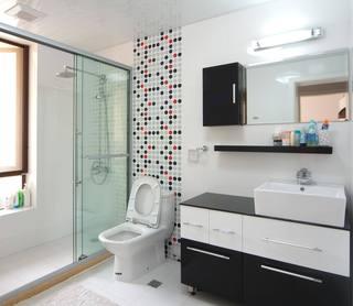 创意美式卫生间 马赛克背景墙欣赏