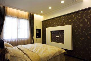 时尚咖色新古典 卧室墙壁装修