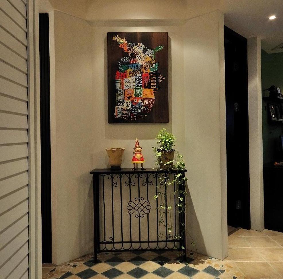 复古美式玄关装饰画效果图