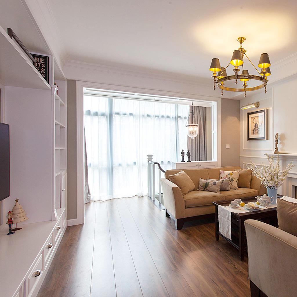 优雅美式客厅过道效果图