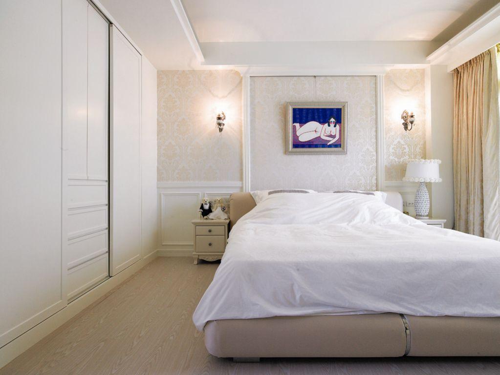 纯情白色简约卧室装潢图