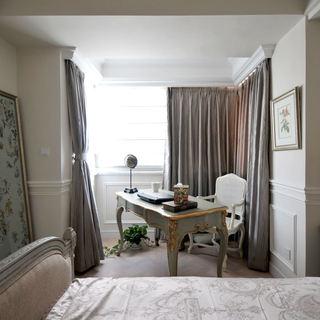 素雅复古简欧风 书房窗帘设计