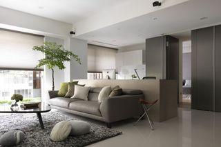 简约宜家风客厅沙发隔断设计