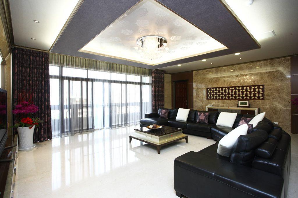 宽敞舒适现代家装客厅装饰图
