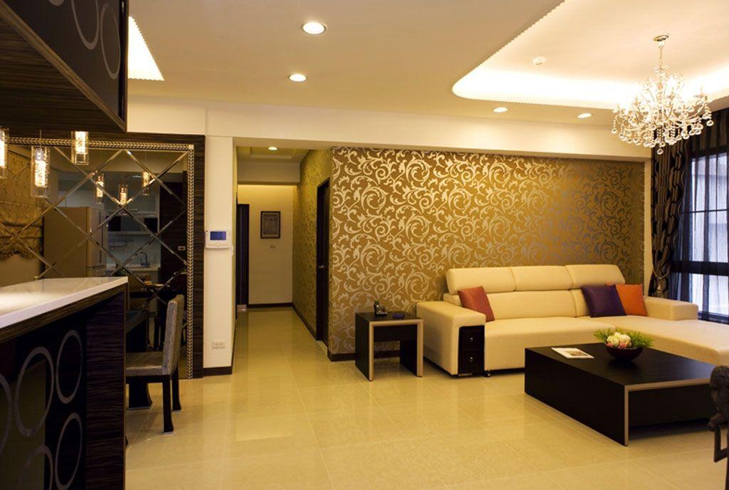 浪漫新古典风格 客厅背景墙设计