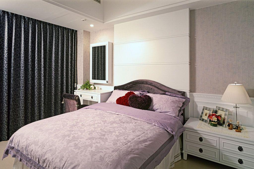 简约新古典小卧室效果图