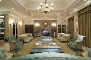 古典欧式别墅客厅装饰大全
