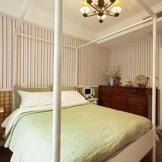 美式乡村风卧室墙纸设计