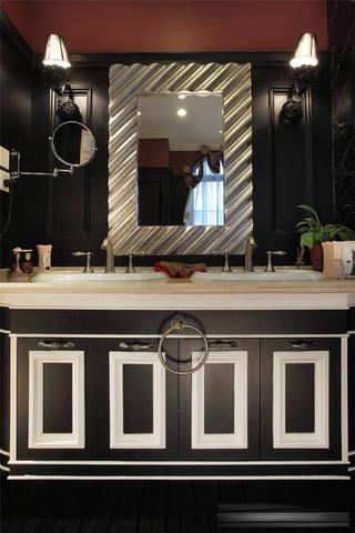 复古黑白欧式洗手台效果图